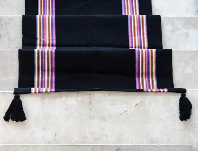 Handwoven Mexican Trompo Table Runner