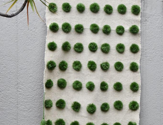 Handmade Mexican Pom Pom Blanket