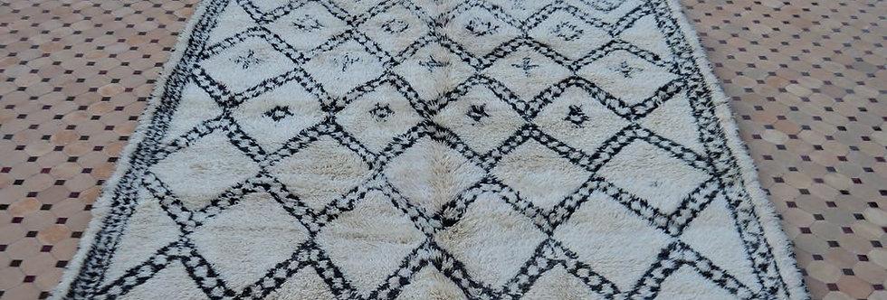 Handmade Horizontal Berber Motif Rug - 1778