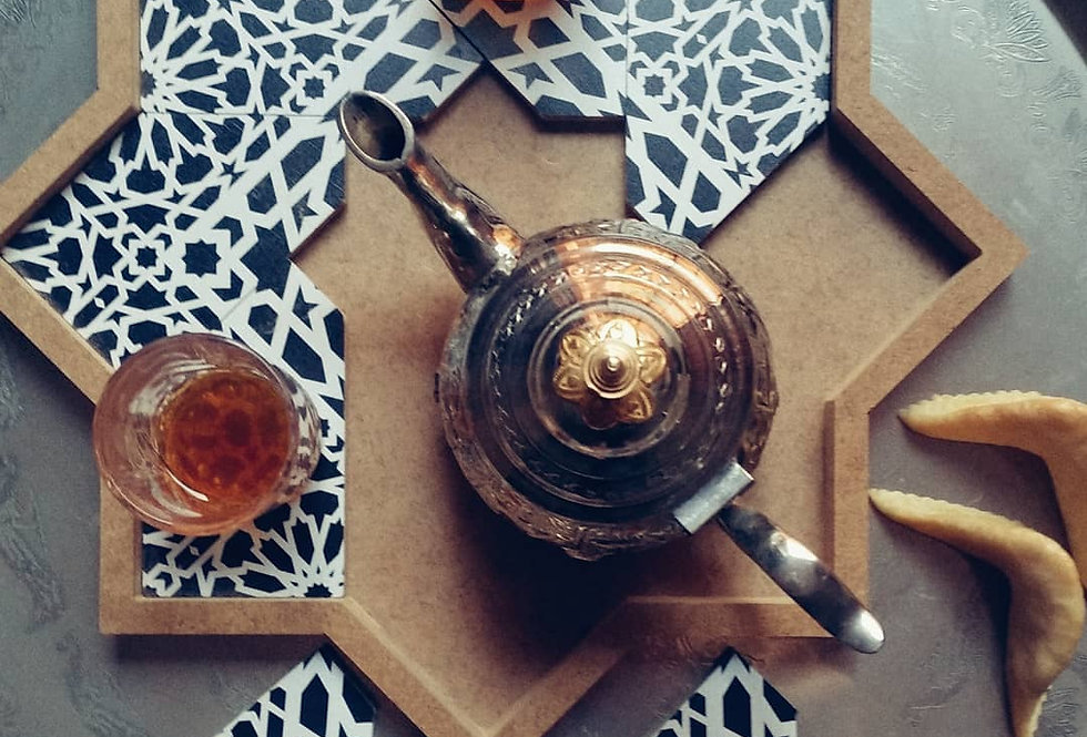 Moroccan Star Puzzle Serving Tray