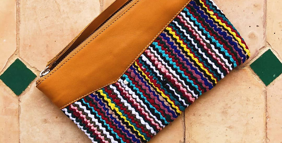 Khyam - Handmade Stylish Clutch with Moroccan Weaving