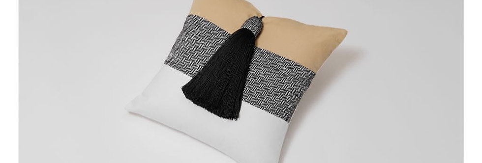 Tri-Color Woven Mexican Pillow - Mysteries of the Night Series