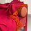 Thumbnail: Colorful Mexican Throw Blanket - Vivid Pink & Orange