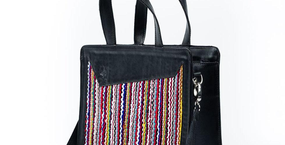 Kasr - Handmade Sleek Square Handbag with Moroccan Weaving