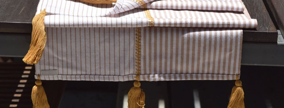 Handwoven Mexican Striped Etéro Table Runner