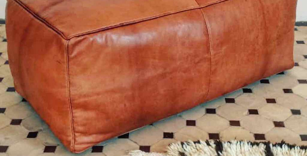 Handmade Contemporary Moroccan Leather Pouf