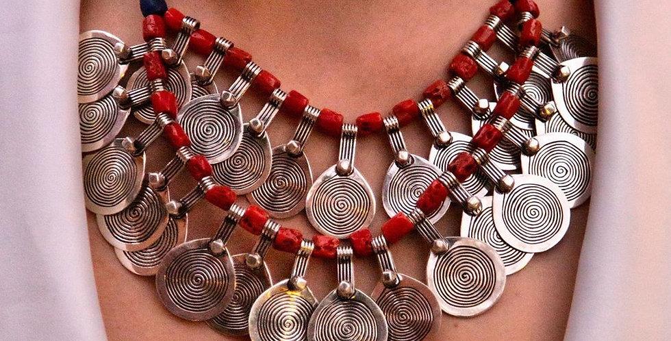 Handmade Moroccan Coral Master Piece Necklace