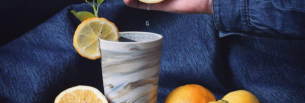 Handmade Mexican Marbled Drinking Cups - Set of 4