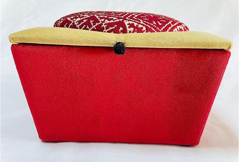 Handmade Moroccan Jewelry Box - Yellow & Red