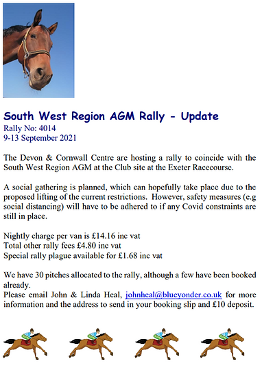 Rally South West Region Rally Update 21.