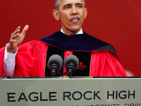 An Eagle Caws for Obama Commencement