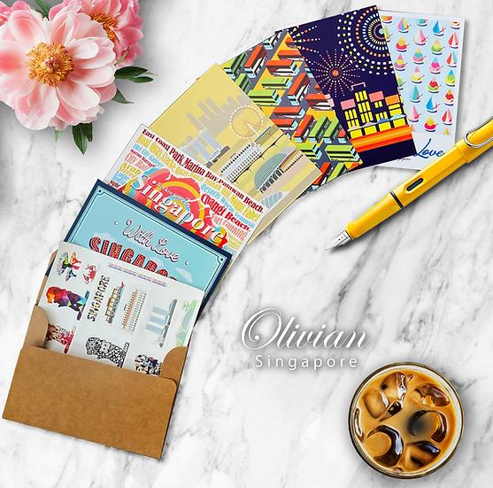 Postcard and sticker Set
