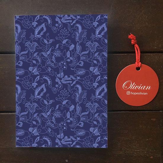 New Batik Blue (NB1) Saddle Stapled Notebook