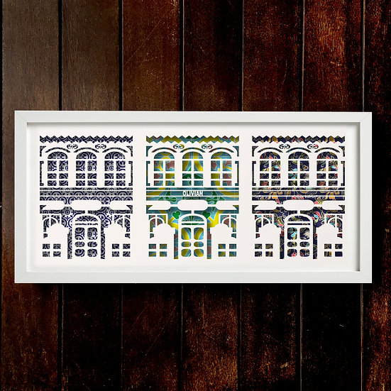 Peranakan Row House Papercut