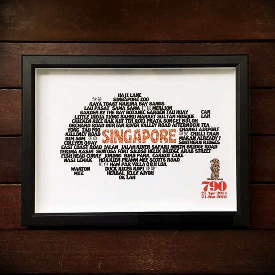 Singapore text Map