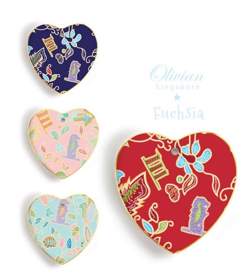 Ornaments Flat heart