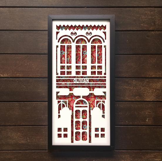 Peranakan House Papercut