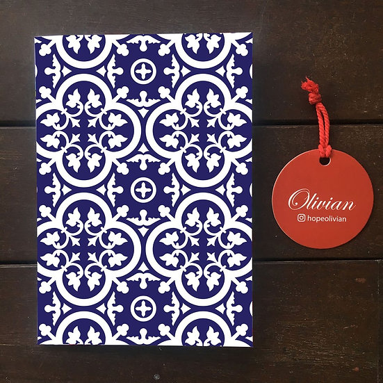 Peranakan tile (PT2) Saddle Stapled Notebook