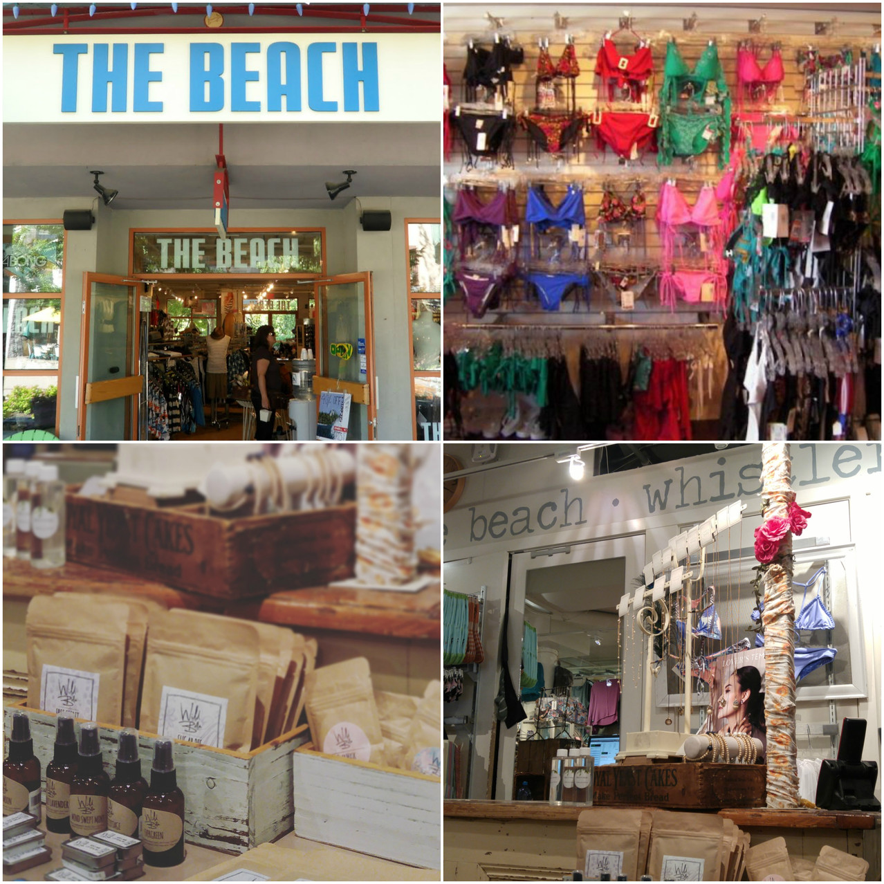 The beach collage