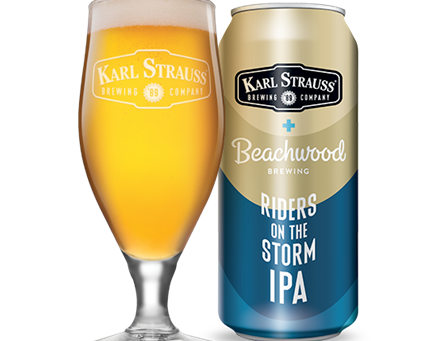 """Riders on the Storm"" IPA: a Karl Strauss and Beachwood Brewing Collab debuts April 8"