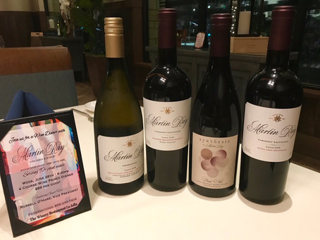 The Winery to host wine dinner with Martin Ray Vineyards & Winery