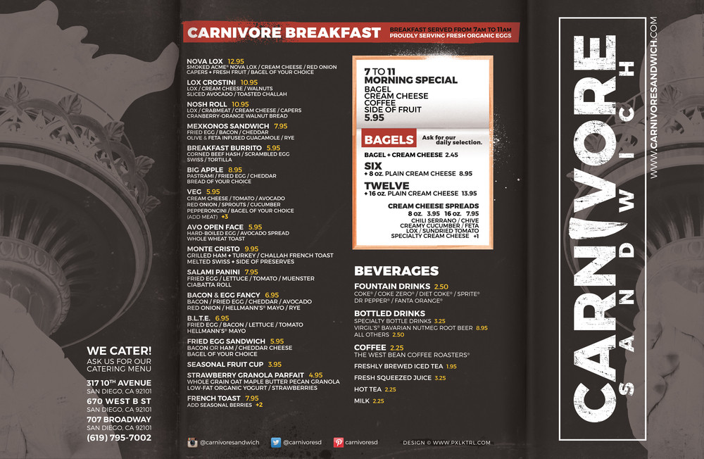 carnivore sandwich, carnivore sandwich downtown