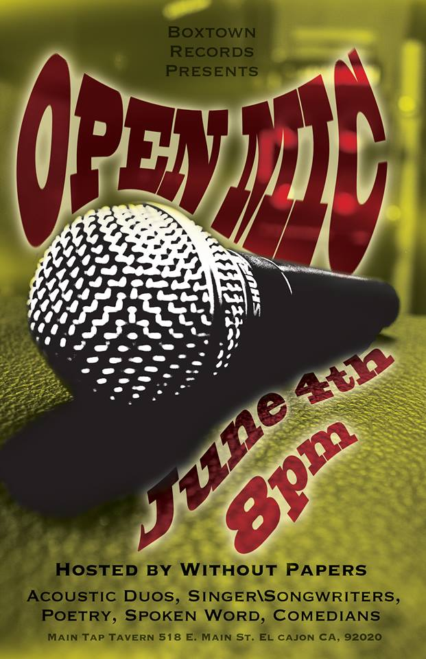 WEDNESDAY -- OPEN MIC NIGHT