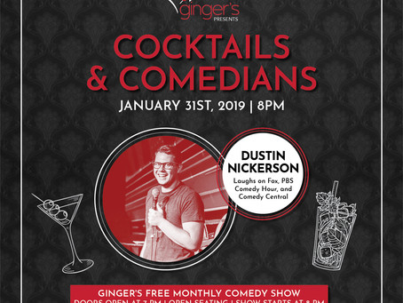 Cocktails and Comedians return to ginger's for Laughs in 2019