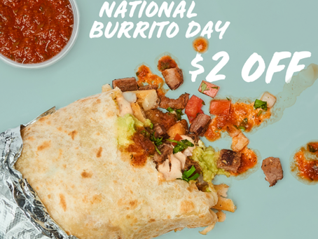 Rubio's to Donate a Meal to Feeding San Diego for Every Burrito Sold on National Burrito Day