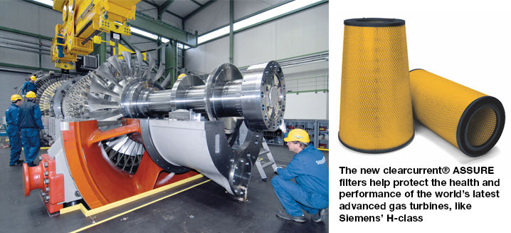Parker's new clearcurrent® ASSURE filters are best-in-class for advanced gas turbines