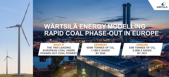 Replacing coal with renewable generation and flexibility promises European energy independence, Wärtsilä finds
