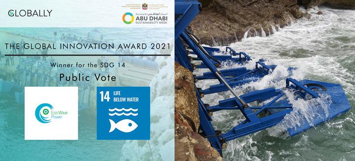 Eco Wave Power wins Global Innovation Award 2021 at Abu Dhabi Sustainability Week