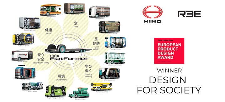 REE Automotive and Hino win European Product Design Award – 'Design for Society'