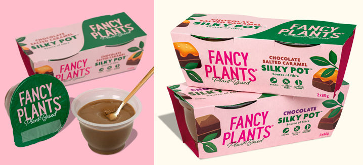 Fancy Plants launches chilled vegan pudding range