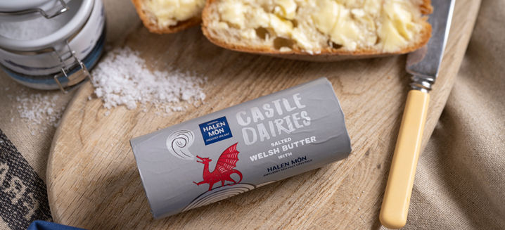 Castle Dairies and Halen Mon team up for new Welsh Butter roll