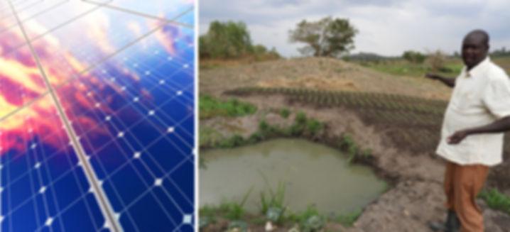 Innovative solar irrigation system recei