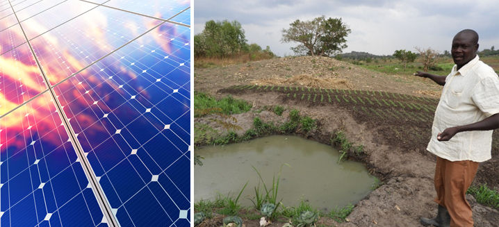 Innovative solar irrigation system recei