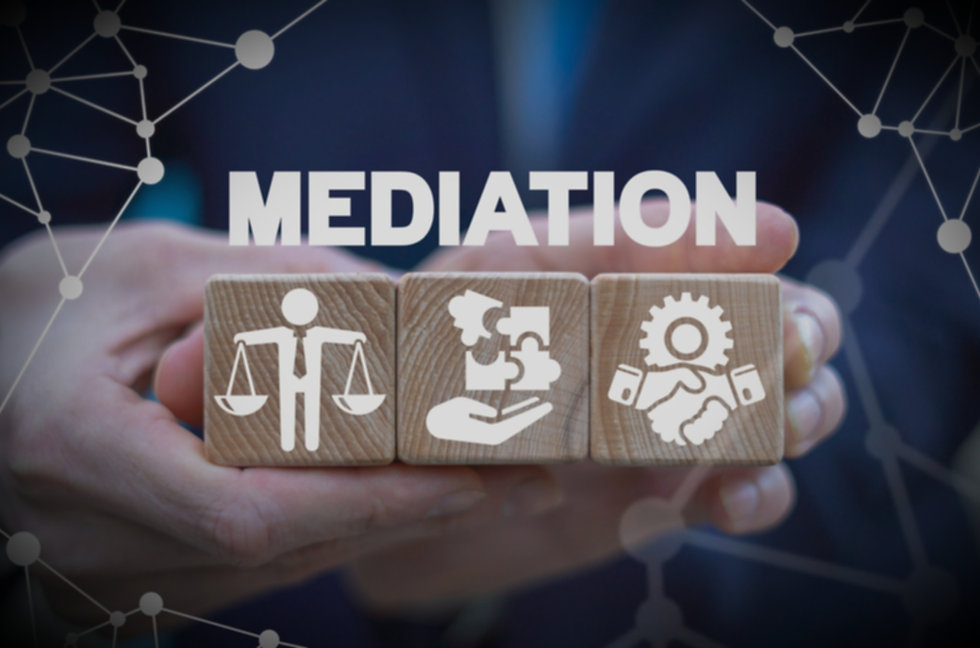 Mediation is a process for resolving conflict and coming up with an agreement.