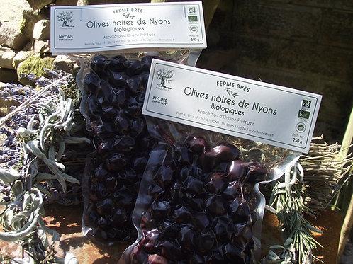 Schwarze Bio Oliven aus Nyons 250 g