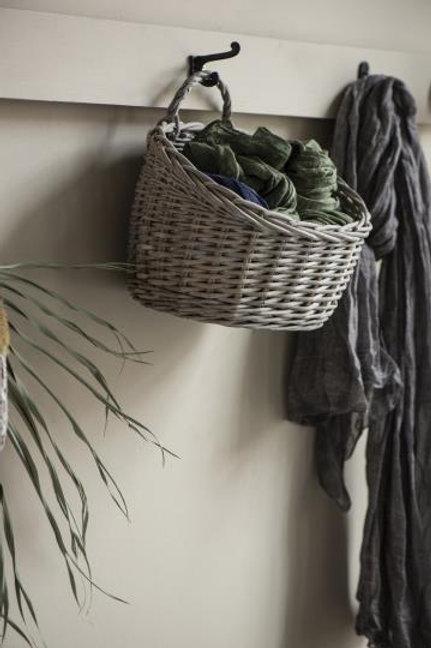 Wandkorb oval mit Henkel Weide
