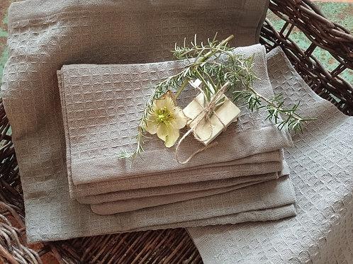 Handtuch grau schöne Webung