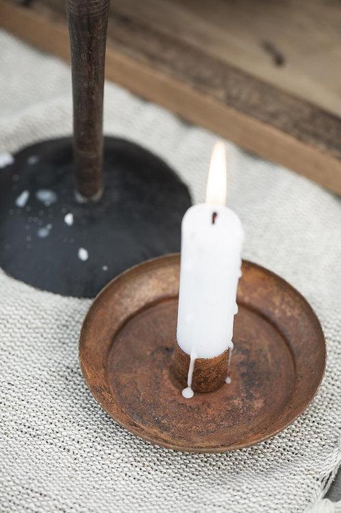 Kerzenhalter rostig für Stabkerzen