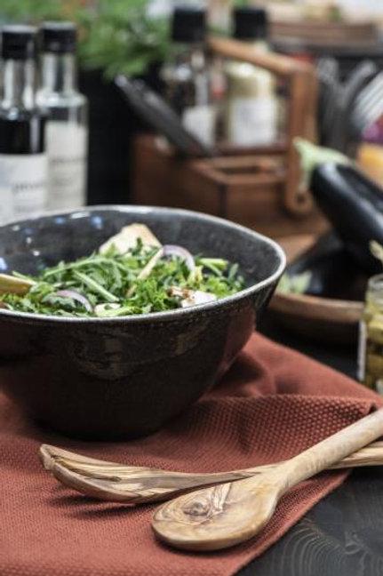 Salatbesteck Olivia UNIKA Olivenholz