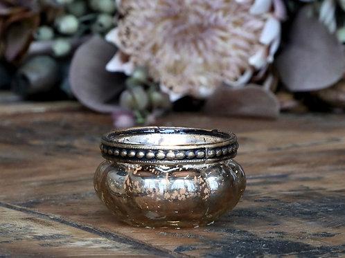 Teelichthalter mit Perlenrand