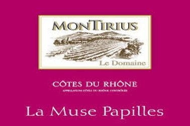 Montirius La Muse Papilles A.O.C. Côtes-du-Rhône rouge 2017 Bio 0,75 l
