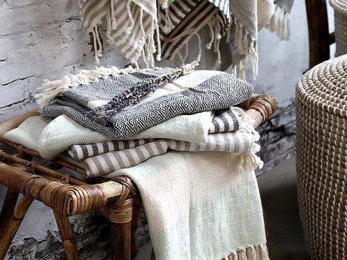 Hamam Handtuch mit Muster verte - Éternel