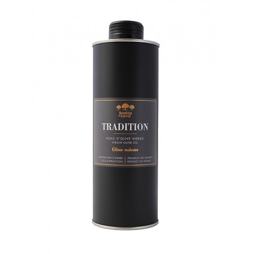 Bastide du Laval Olivenöl Tradition Fruchtig schwarzes Olivenöl 500 ml