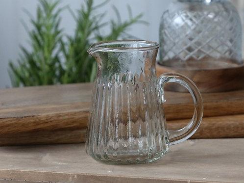 Kanne mit Rillen Glas