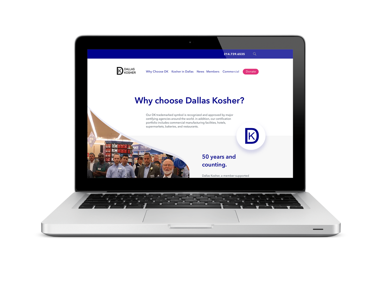 Dallas Kosher Non-profit Website