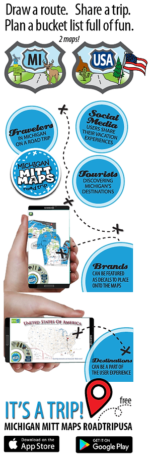 Michigan Mitt Maps RoadTripUSA